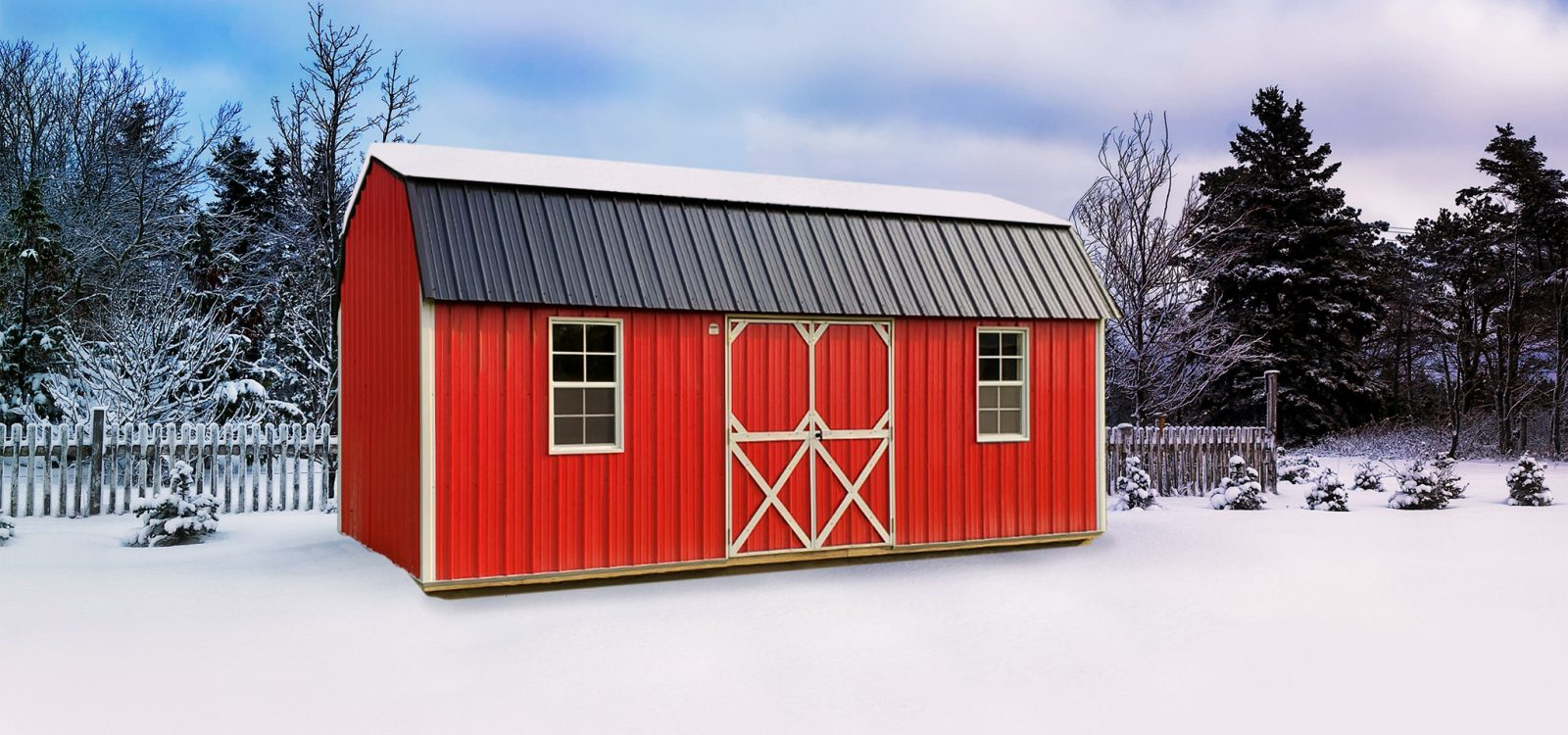 red storage shed
