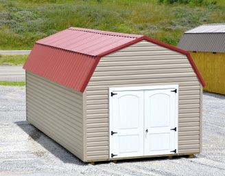 A vinyl lofted barn shed for sale in Virginia