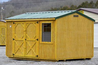 green garden storage shed